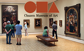 visitors in the chazen museum.