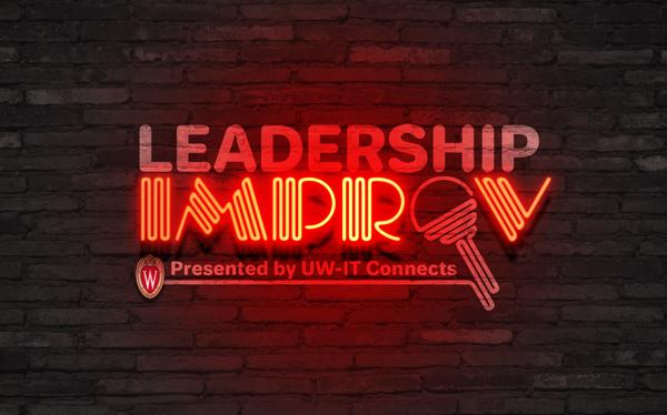 Leadership Improv logo on brick wall